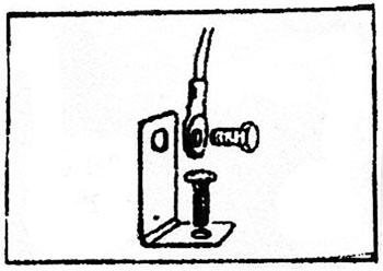 Schema de montage d'un coude de fixation à 90°